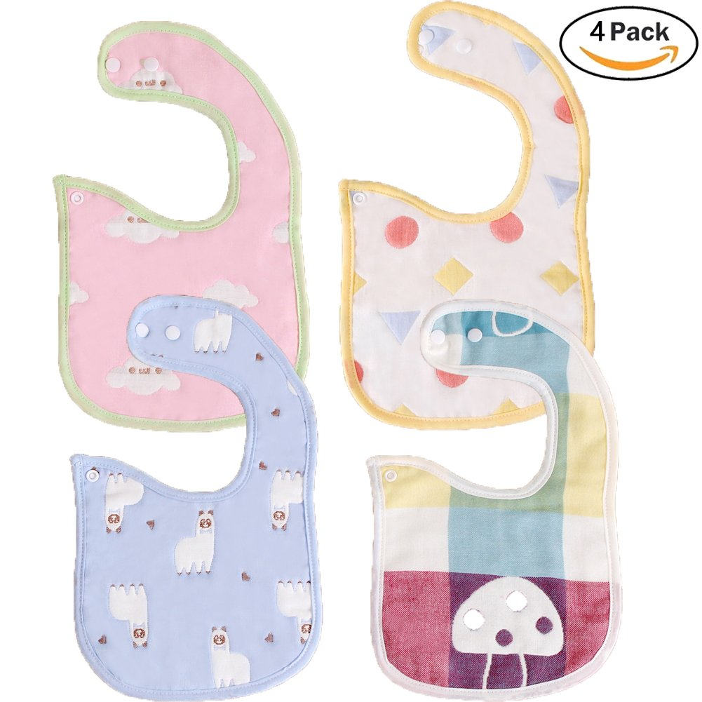 3 Pack Sleeved Bibs Waterproof Babies Feeding Bibs with Long Sleeves Washable Baby Apron for 6-36 Months Kids Eating and Painting LANYUKEJI