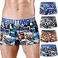 TRENTON Men Boxer Briefs, Colorful U Convex Bulge Pouch Brief Low Rise Underwear Underpants
