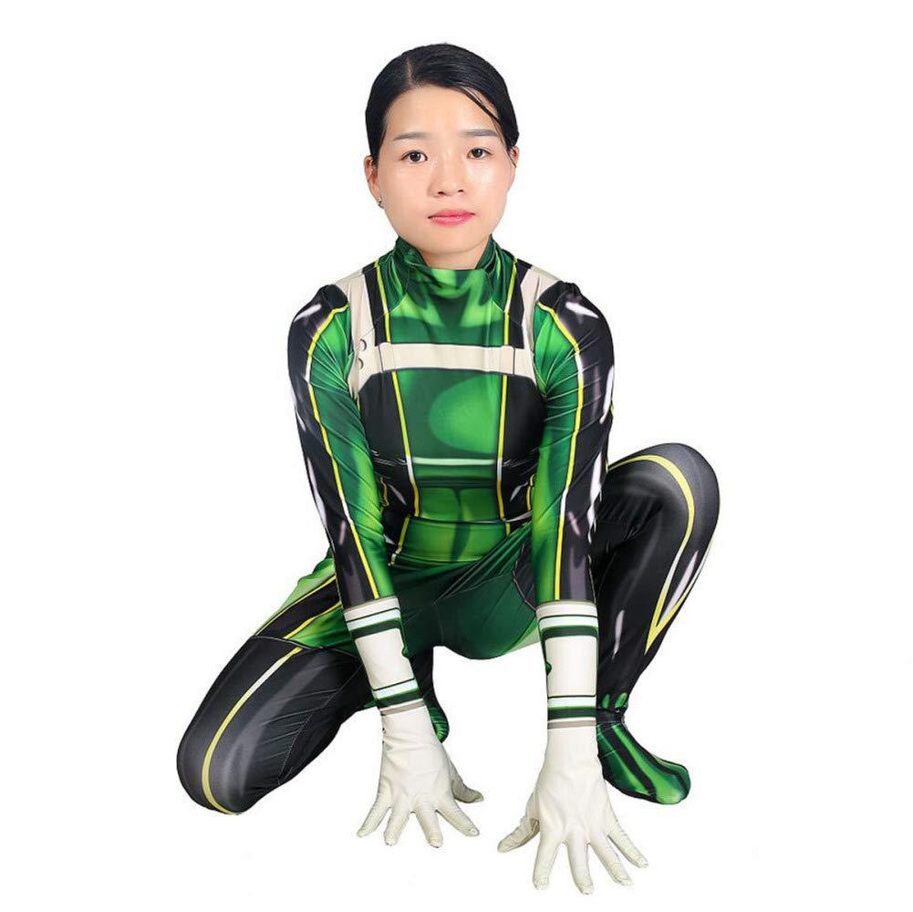 ASJUNQ - Costume Intero da Rana Che soffia la Pioggia, per Cosplay, Halloween, Feste a Tema, per Film, verde, Large