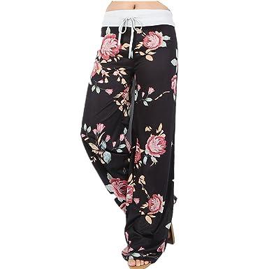 eb7f80a865df Newbestyle Women High Waist Casual Comfy Soft Stretch Floral Print ...