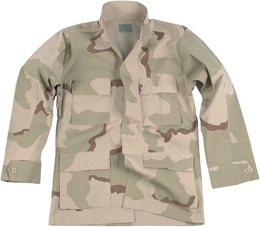Mil-Tec Mens RIPSTOP US Army Style CARGO SHORTS Prewash Cotton Desert 3-color