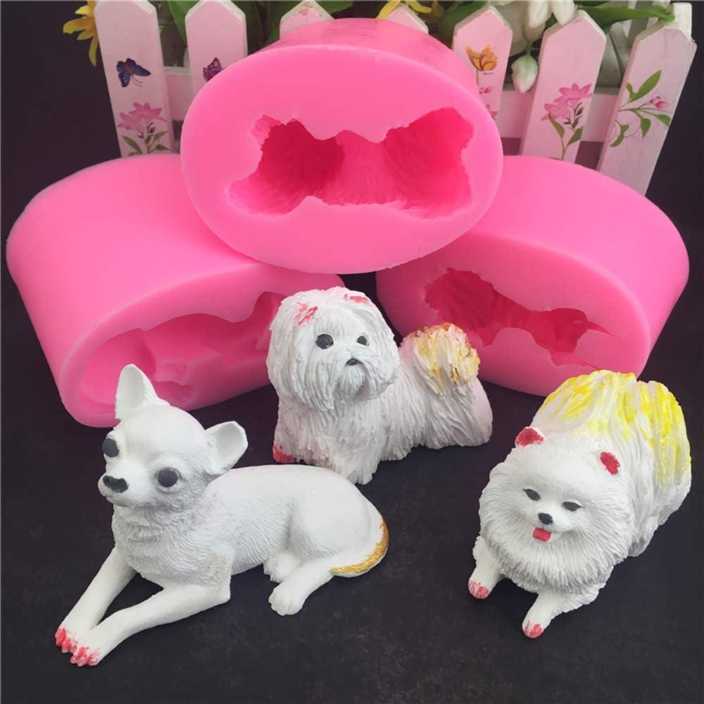 Dog shape silicone fondant cake decorating mold cake tool for bakeware