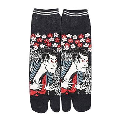 Amazon.com: Calcetines de algodón estilo japonés con puntera ...