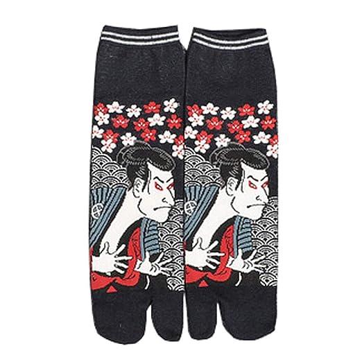 Japanese Style Cotton Sandal Split Toe Tabi Ninja Geta Socks ...