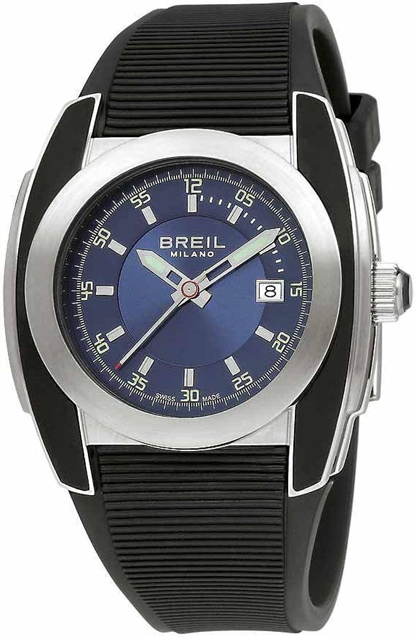 Breil Milano BW0373 - Reloj de Caballero de Cuarzo, Correa de Goma Color Negro