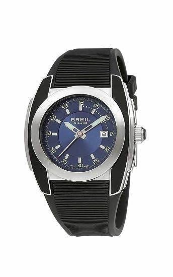 Breil Milano BW0373 - Reloj de caballero de cuarzo, correa de goma color negro: Amazon.es: Relojes