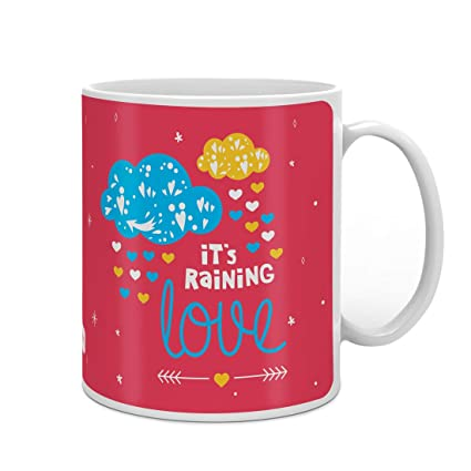 Indigifts Valentine Day Gift I Miss You Quote Printed Pink Coffee Mug 330 Ml