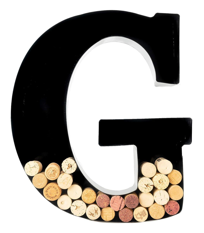 Wine Cork Holder - Metal Monogram Letter (G)