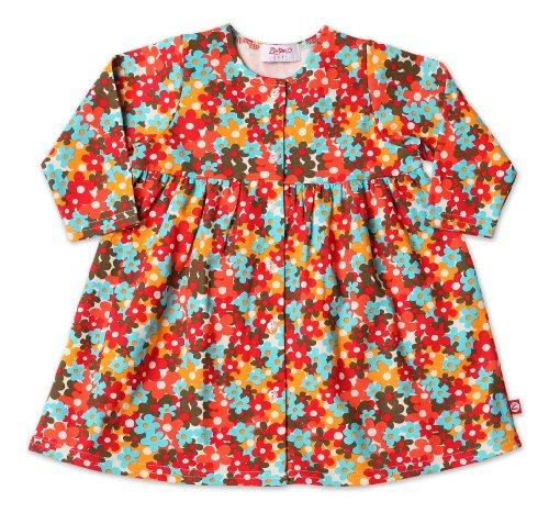 Zutano Print Long Sleeve Dress, Flower box, 18 24 Months