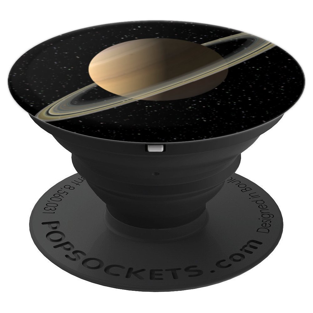 Colourful Lyfe Saturn Planet Galaxy Solar System - PopSockets Grip and Stand for Phones and Tablets