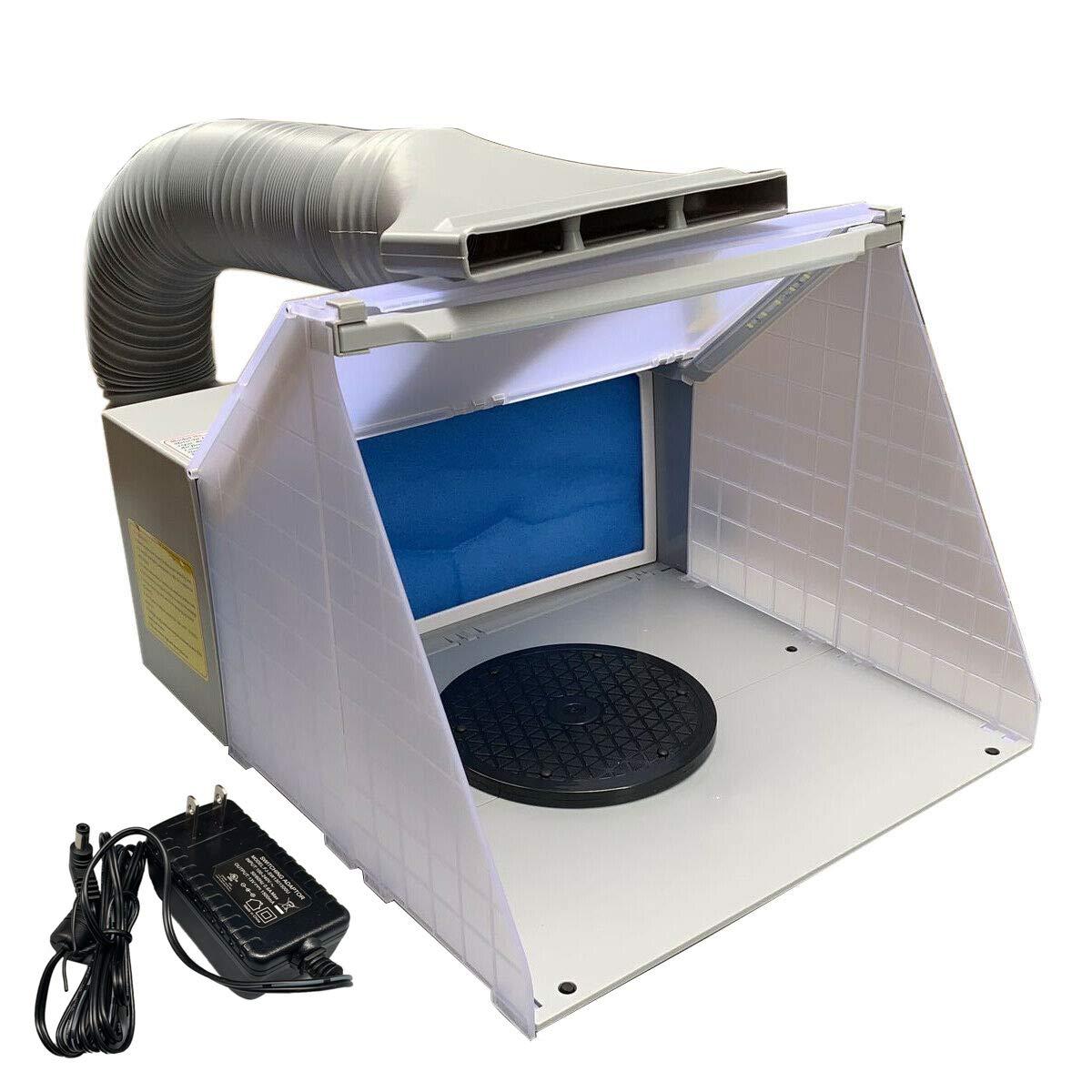 Lfhelper Airbrush Spray Booth Kit W/LED Light Foldable/Portable for Cake/Craft/Hobby/Nail DIY Painting by Lfhelper