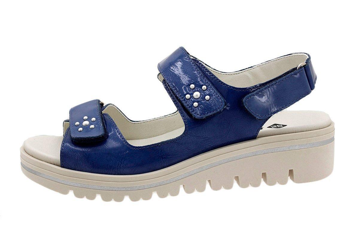 PieSanto Sandale mit Herausnehmbarem Fuszlig;bett 180781 Komfort Damenlederschuh  37 EU|Charol Jeans