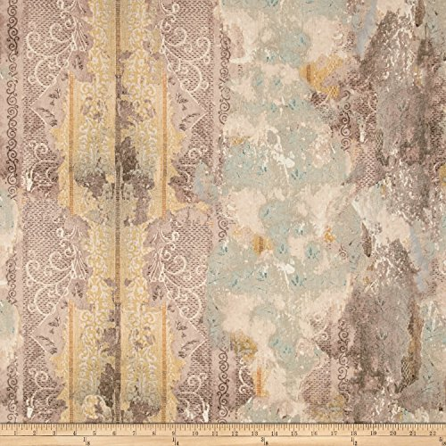 tim-holtz-electric-elements-wall-flower-worn-wallpaper-multi-fabric-by-the-yard