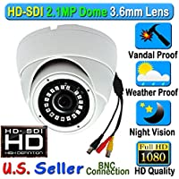 HD SDI SONY 2.1MP CMOS Sensor 1080P Starvis Dome 3.6mm Wide Lens Angle Vandal Weather Proof SMT LED IR Night Vision BNC Connection Outdoor CCTV Camera 2.1 Megapixel