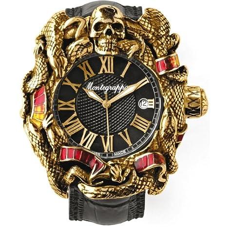Reloj S, Montegrappa Chaos Stallone automático - Dorado y ETA 2824 esmalte: Amazon.es: Relojes