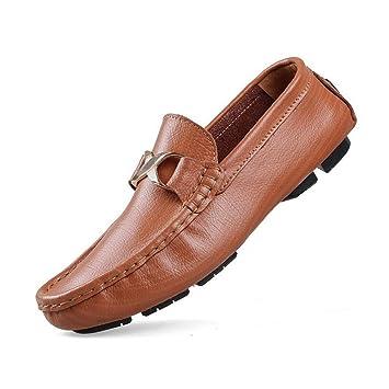 Mocasines de Cuero Genuino para Hombre Mocasines y Slip-on Comfort Comfort para Hombre Zapatos