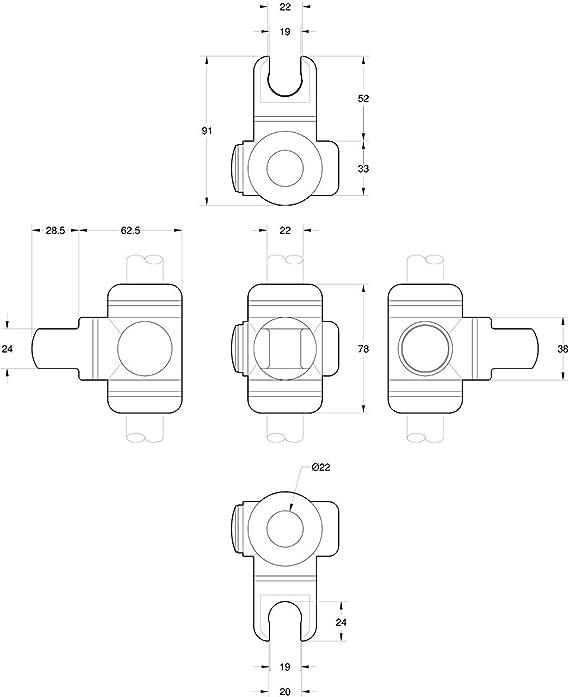 Generic bianco 22/mm supporto doccia scorrevole saliscendi Push Button
