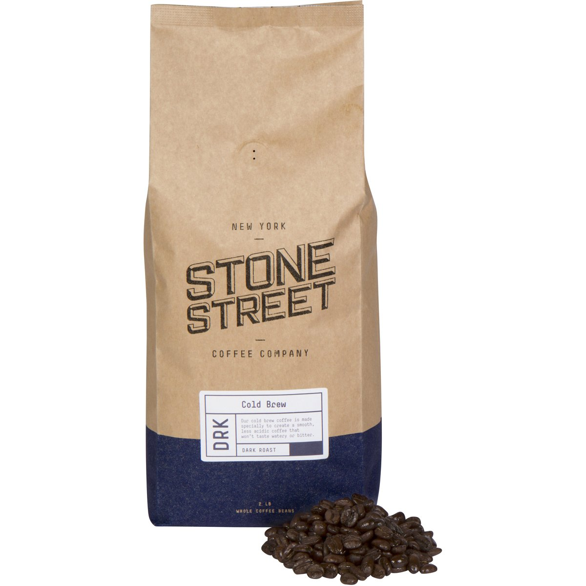 Stone Street Coffee Cold Brew Reserve Colombian Single Origin Whole Bean Coffee - 2 lb. Bag - Dark Roast