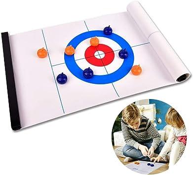 Freyamall Juego de Curling de Mesa, Mesa de Curling Compacto para ...