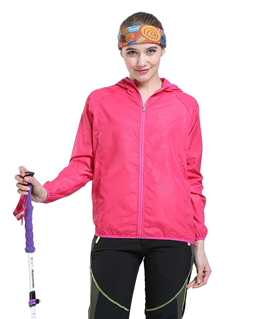 Tortor 1Bacha Women's Outdoor Lightweight Windbreaker Hooded UV Protection Jacket PFY-SE
