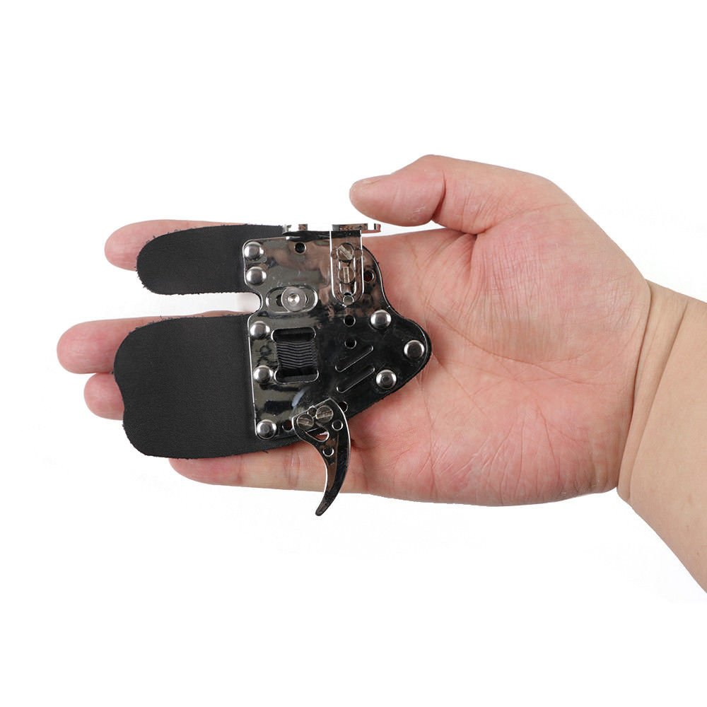 Toparchery Finger Tab Finger Protector Finger Saver Cow Leather Gloves Hunting Shooting Tab for Recurve Long Bow by Toparchery (Image #5)