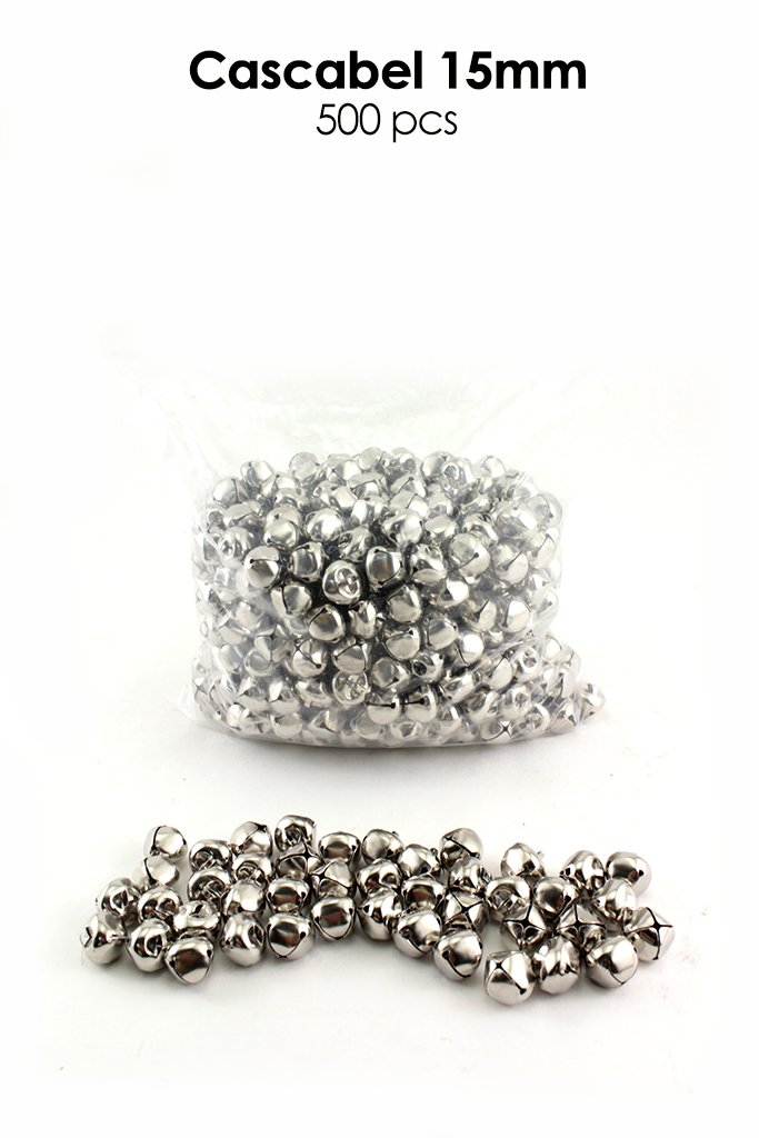 Avanti 15MM Jingle Bell in Silver, 500 Pcs /Bag. Great use for Decorations, DIY accessories, Arts and Craft Projects (15MM, Silver)