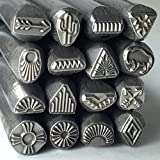 Native American, Large Steel Stamps, Native Tribe Designs,Native Designs, Native Silver, Tribal Designs, Southwest Stamps, 3/8 Tool Shank