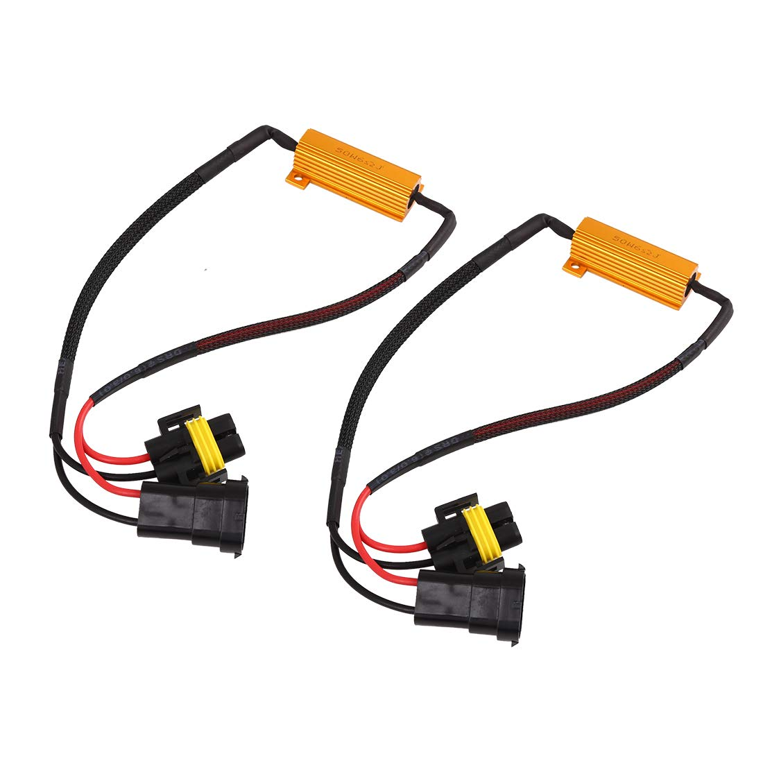 X AUTOHAUX H7 LED Light Canbus Decoder Anti Flicker Dual Resistor Canceller 2pcs