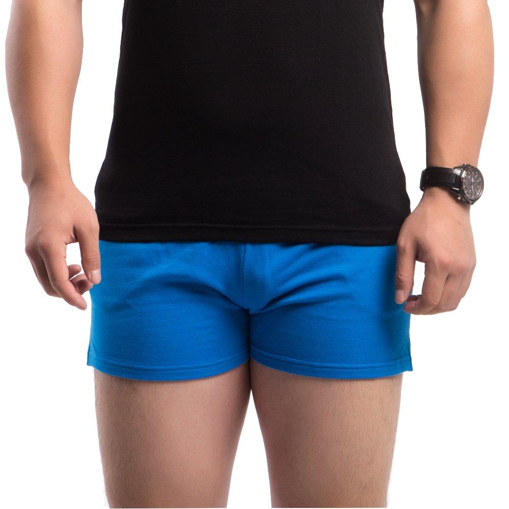 Muscle Aliveメンズワークアウトショーツ3 cm股下95 %コットンテリースパンデックス5 %ポケット付き厚手生地 B073QLQRPW M: Waist 30