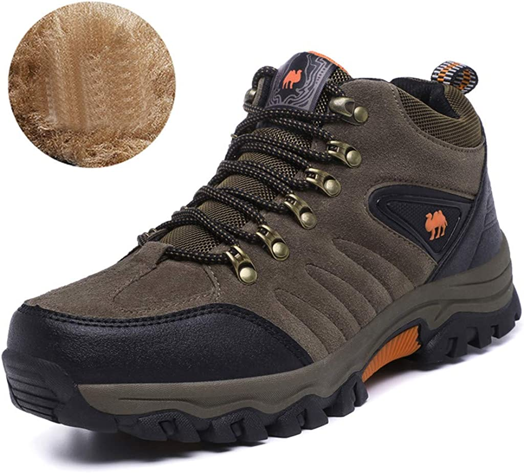 Jentouzz Mens Hiking Boots Outdoor Walking Trekking Trail Backpacking Shoes Winter Snow Boots