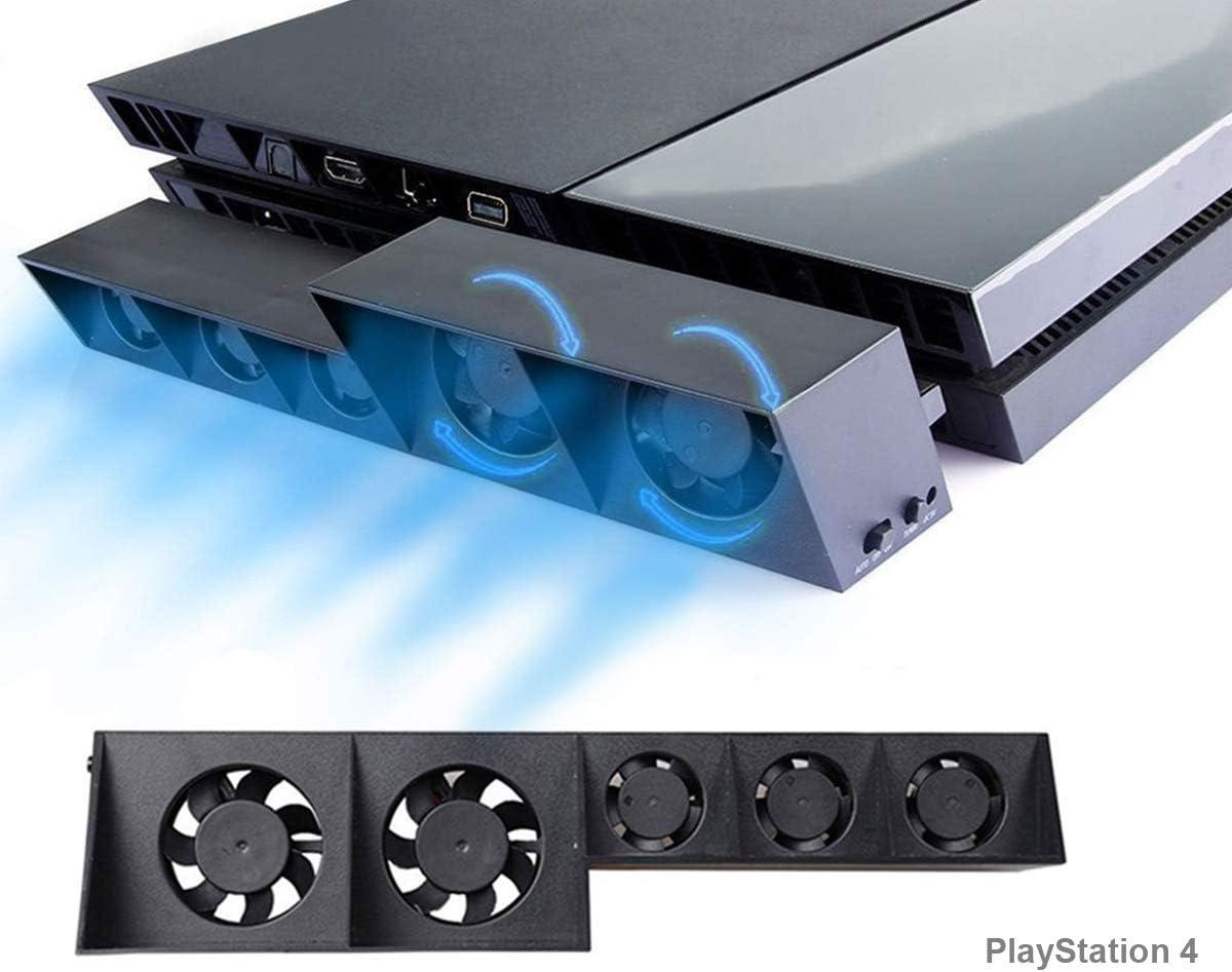 PS4 Turbo refrigerador Ventilador de refrigeración, Súper USB Cooling Fan Cooler con Sensor de Temperatura automático para Playstation 4