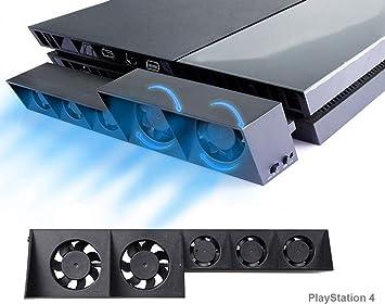 PS4 Turbo refrigerador Ventilador de refrigeración, Súper USB Cooling Fan Cooler con Sensor de Temperatura automático para Playstation 4: Amazon.es: Electrónica