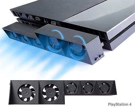 PS4 Turbo refrigerador Ventilador de refrigeración, Súper USB Cooling Fan Cooler con Sensor de Temperatura