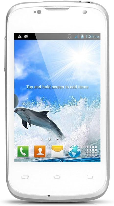 Doogee Collo 2 DG120 3,5 pulgadas IPS pantalla Smartphone 3G Android 4.2 MTK6572W Dual Core Cell phone Dual SIM Dual Standby teléfono móvil GPS WiFi teléfono móvil blanco: Amazon.es: Electrónica