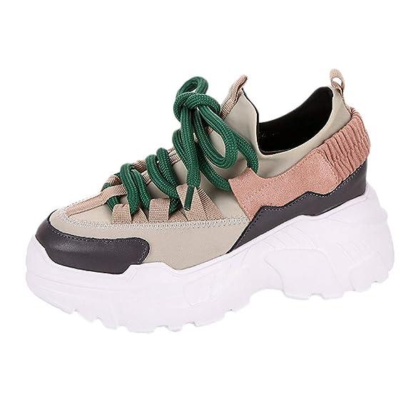 e8123f9e234e VECDY Damen Sneakers,Weihnachten Geschenke- Herbst Warme Winterschuhe der  Plattformsportschuhe im Freien Low Top