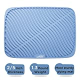 Samuelworld Large Size Dish Drying Mat Silicone Counter Mat High Ridges for Better Aeration, 0.4 Inch Thickness