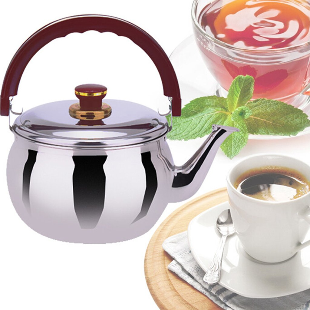 Milch Tee 1,0 l golden Baoblaze Edelstahl Fl/ötenkessel Teekessel Wasserkessel f/ür Kaffee