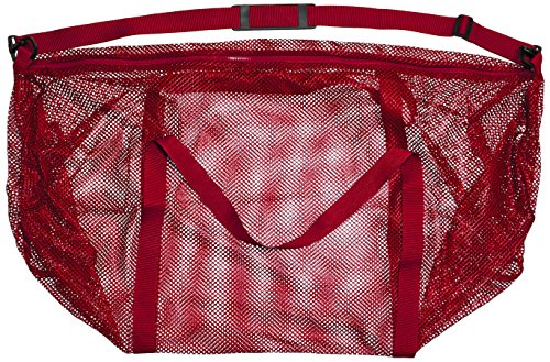 Champion Sport Mesh Duffle Bag, Bright Red, 15″ x 36″