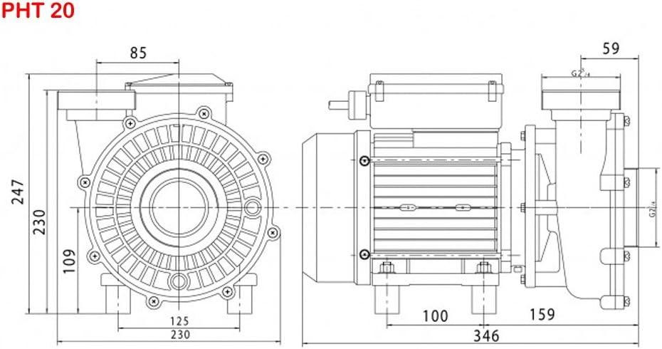 Vipool Pompe De Filtration Solubloc PHT 10 Monophas/ée Pour Blocs De Filtration Desjoyaux/®