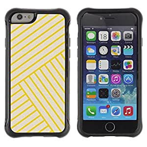 Suave TPU GEL Carcasa Funda Silicona Blando Estuche Caso de protección (para) Apple Iphone 6 / CECELL Phone case / / Stripes Lines Yellow Angle Tile /