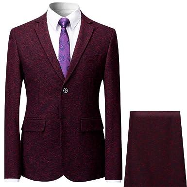 Allthemen Costume Homme 2 Pcs Veste Pantalon Gilet Mariage Party Smoking   Amazon.fr  Vêtements et accessoires 09adf7cb1c9