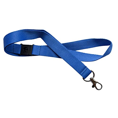 Kestronics 20mm Lanyard with Safety Break away and Metal clip - Blue