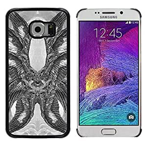 Colorful Printed Hard Protective Back Case Cover Shell Skin for Samsung Galaxy S6 EDGE / SM-G925 / SM-G925A / SM-G925T / SM-G925F / SM-G925I ( Hawk Owl Eagle Eye Feathers Wings )