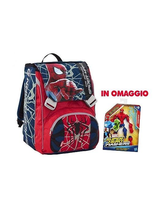 c20c804151 Seven 204001404 Spiderman Zaino Sdoppiabile con Personaggio: Amazon ...