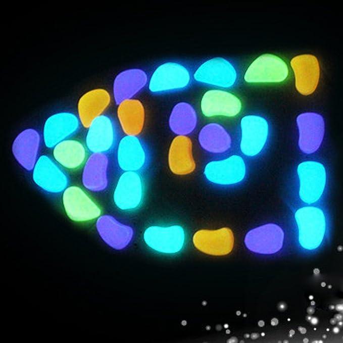 YA-Uzeun 50 piedras brillantes en la oscuridad, para el hogar ...