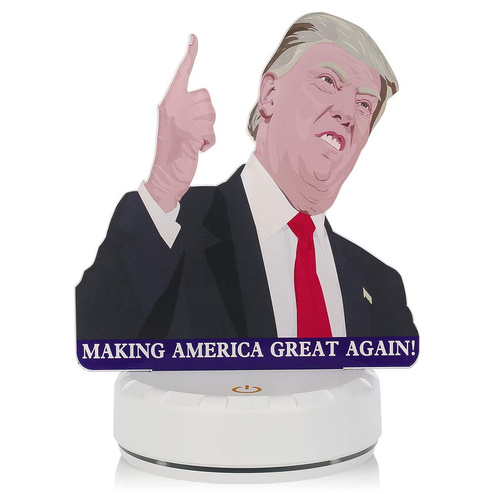 Premium Optical Donald Trump Night Lamp 3D Night Light Valentine and Birthday Presents with 7 Colors Changing USB Powered LED Table Desk Lamps for President Gifts