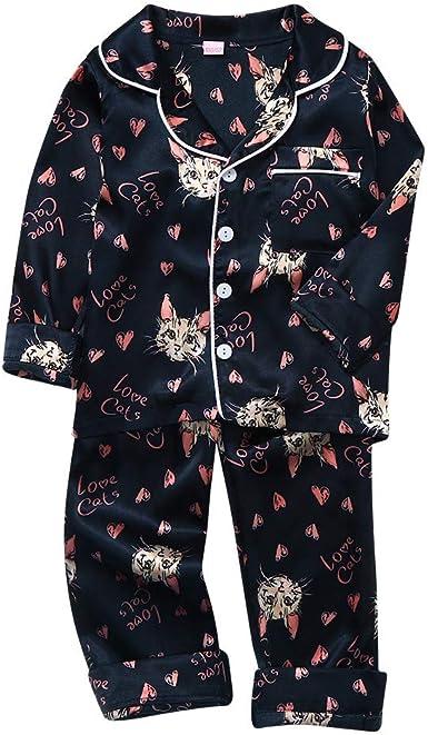 Children Baby Boy Long Sleeve Cartoon Shark Tops+Pants Outfit Set Casual Pajamas