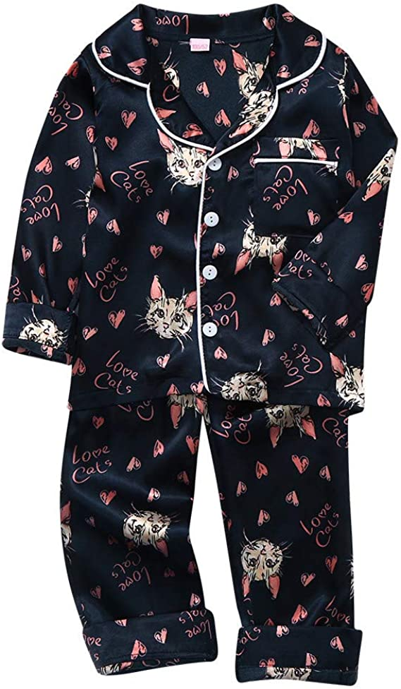 Long Pants Outfit Tracksuit Toddler Kid Baby Girl Winter Clothes Long Sleeve Leopard Love Tops