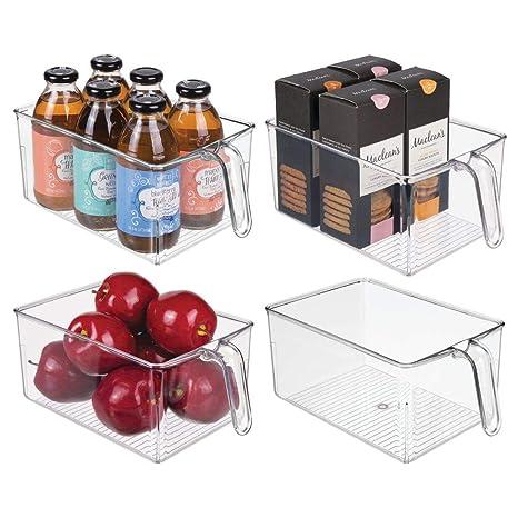 Amazon.com: MDesign - Organizador de almacenaje de plástico ...