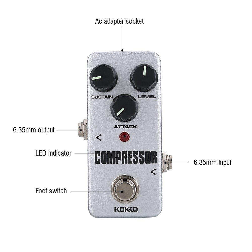 Guitar Compressor Pedal FCP 2 Mini Compressor Guitar Effects Pedal for Electric Guitar Accessories